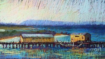 Painting - Queenscliff Jetty by Pamela Pretty