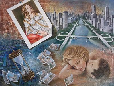Pap Painting - Quelque Part Dans Le Passe by Fatima Marques