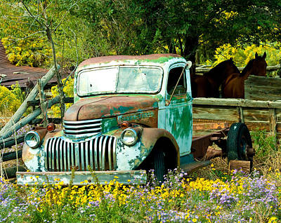 Questa Truck Art Print by Jim  Arnold