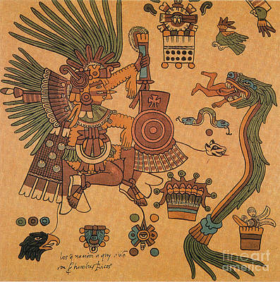 Diety Photograph - Quetzalcoatl, Aztec Feathered Serpent by Photo Researchers