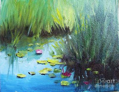 Wall Art - Painting - Quiet Bend In The Creek by Judy Parins