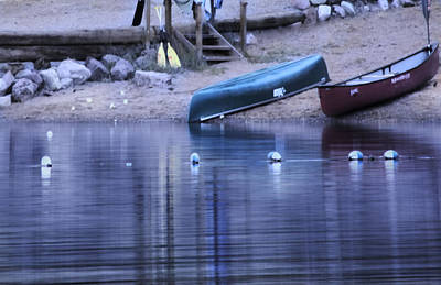 Art Print featuring the photograph Quiet Canoes by Janie Johnson