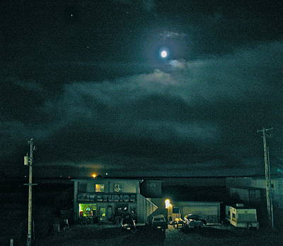 Photograph - Quiet Crescent City Moon Musing Over Bay Studio by Cliff Spohn
