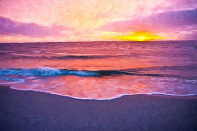 Shore Digital Art - Quiet Evening by Betsy Knapp