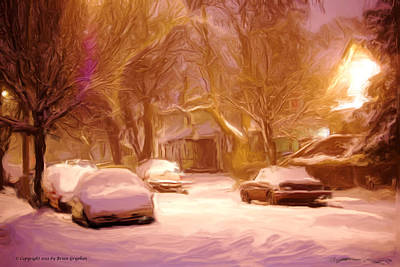 Photograph - Quiet January Night by Brian Gryphon