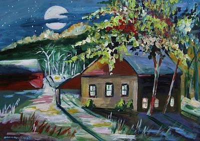 Peaceful Scene Drawing - Quiet Night by John Williams