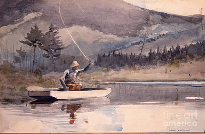 Trout Painting - Quiet Pool On A Sunny Day by Pg Reproductions