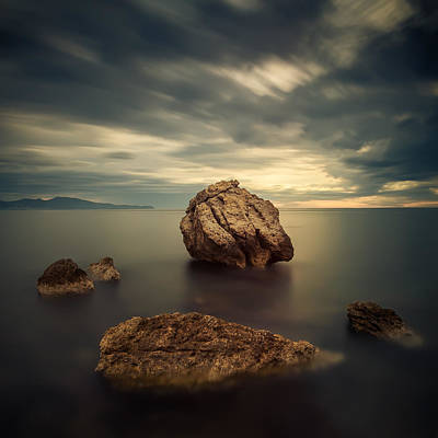 Quiet Rocks Art Print by Xose Casal Photography