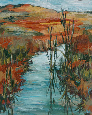 Painting - Quiet Stream by Sandy Tracey