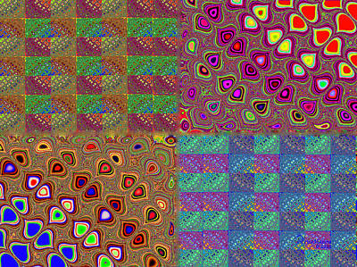 Digital Art - Quilted Fractals by Ericamaxine Price