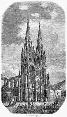 Quimper: Cathedral, 1856 Art Print by Granger