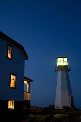 Jul08 Photograph - Quirpon Island Lighthouse And Inn by John Sylvester