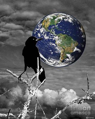 Digital Art - Quoth The Raven Nevermore by Lizi Beard-Ward