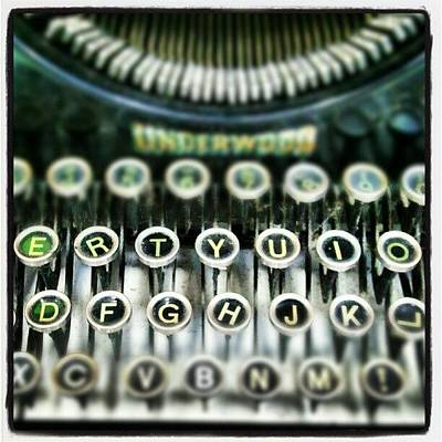 Typewriter Photograph - #qwerty by Jules S