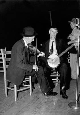 Boyd Photograph - R. J. Boyd, Playing Fiddle, And Millard by Everett