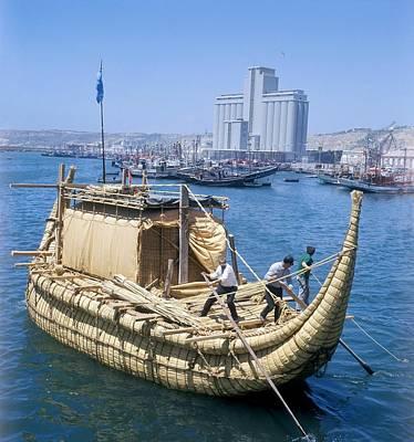 Ra-2 Papyrus Boat, Morocco Art Print by Ria Novosti