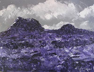Painting - Rabbit Ear Mountain Midnight by Don Hutchison