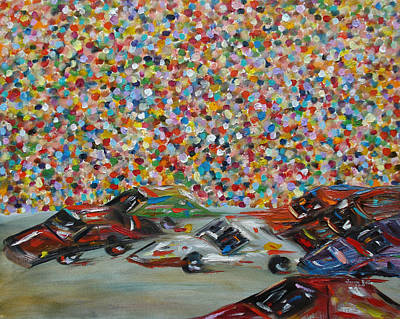 Race Day Art Print by Judith Rhue