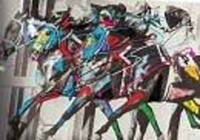 Mixed Media - Race Horses 1 by Walter Hernandez