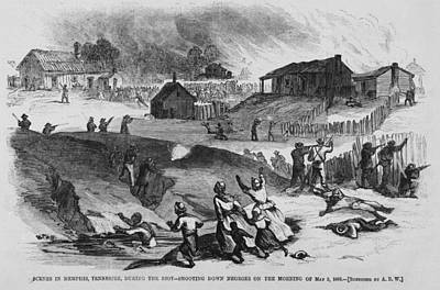 Race Riot In Memphis, Tennessee, May 2 Art Print by Everett