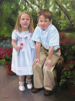 Painting - Rachel And Isaac by Erin Rickelton