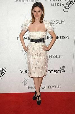 Empire Waist Photograph - Rachel Bilson Wearing A Chanel Dress by Everett
