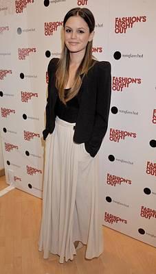 Rachel Bilson Wearing A Vanessa Bruno Art Print by Everett