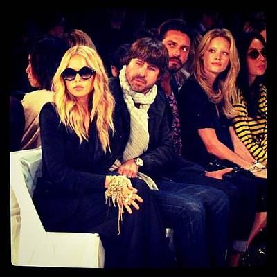 Celebrities Wall Art - Photograph - Rachel Zoe And Rodger At Dvf Fashin Show by Mariana L