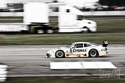 Racing By Art Print by Darcy Michaelchuk
