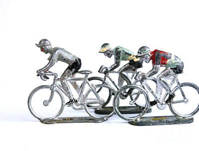 Racing Cyclist Art Print by Bernard Jaubert