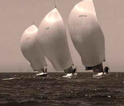 Photograph - Racing In Sepia by Paula Greenlee