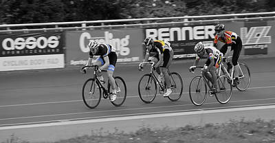 Velodrome Photograph - Racing by Nigel Jones