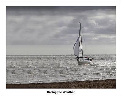 Racing The Weather Art Print by Nigel Jones