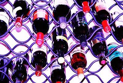 Wine Rack Painting - Rack 'em by Mike Crump