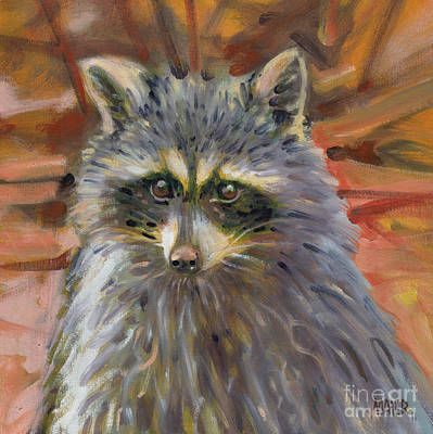 Painting - Racoon by Donald Maier