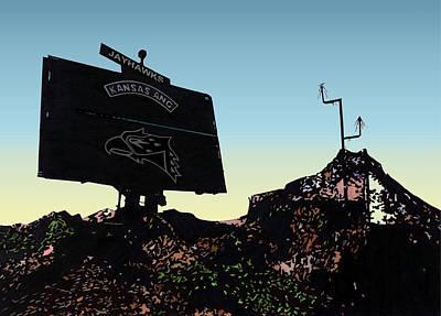 Radar Site Art Print by Lyle Brown