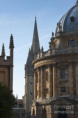 Oxford Photograph - Radcliffe Camera And Church Of St Mary by Andrew  Michael
