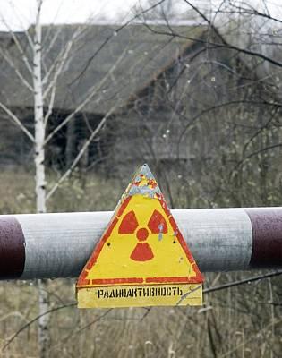 Radiation Warning Sign, Belarus Art Print by Ria Novosti