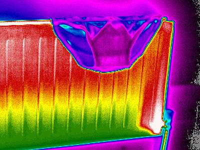 Radiator, Thermogram Art Print