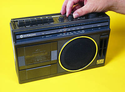 Tape Player Photograph - Radio Cassette Player by Andrew Lambert Photography