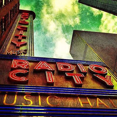 Painted Photograph - Radio City Music Hall by Luke Kingma