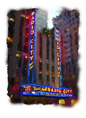 Digital Art - Radio City Nyc by Geoff Strehlow
