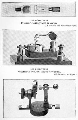 Electrolytic Photograph - Radio Receiver Components, 1914 by
