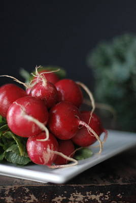 Kale Photograph - Radishes And Kale by Shawna Lemay
