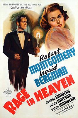 Raging Photograph - Rage In Heaven, Robert Montgomery by Everett