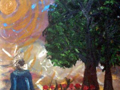 Painting - Rage In Heaven by Violette Meier