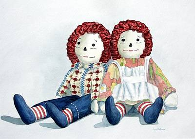 Raggedy Ann Painting - Raggedy Ann And Andy by Lyn DeLano