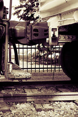 Photograph - Rail Car Coupler by Lawrence Burry