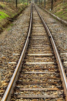 Rail Way Art Print by Tad Kanazaki