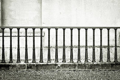 Black Metal Fence Photograph - Railings by Tom Gowanlock